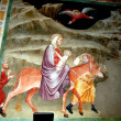 Bolzano, Italy: Wall Frescos in the 14th Century Dominican Church — Stock Photo