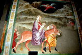 Bolzano, Italy: Wall Frescos in the 14th Century Dominican Church — Stockfoto