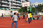 China: Chinese Youths Playing Basketball — Stock fotografie