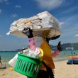Stock Photo: Patong, Thailand: WomSelling Food and Drinks on Beach