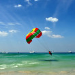 Stock Photo: Patong, Thailand: Paragliding over AndamSea