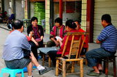 China: People Playing Cards — Stock Photo