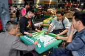 Pengzhou, China: People Playing Mahjong — Stock Photo