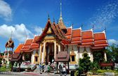 Phuket, Thailand: Ubosot Hall at Wat Chalong — Stock Photo