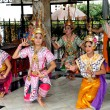 Stock Photo: Bangkok, Thailand: ErawShrine Dancers