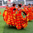 Stock Photo: China: Women Performing Flamenco Dance Routine