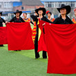 Stock Photo: China: Women Flamenco Dancers Performing Routine