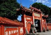 China: Shi Fo Buddhist Temple in Pengzhou — Stock Photo