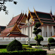 Bangkok, Thailand:  Wat Ratchanadda and Topiary Gardens — Stock Photo