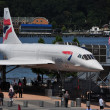 NYC:  Brutish Airways Concorde at the Intrepid Museum — Stock Photo