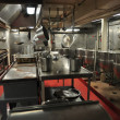 Stock Photo: NYC: Galley at U.S.S. Intrepid Museum