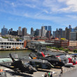 NYC: View from U.S.S. Intrepid Museum to Midtown Manhattan Skyline — Stock Photo