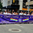 Stock Photo: NYC: NYPD Police Officers League at Gay Pride Parade