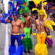 Stock Photo: NYC: Colourful Marchers at Gay Pride Parade