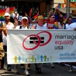 NYC: Group Advocating Marriage Equality at the Gay Pride Parade — Stock Photo #35571145
