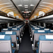 NYC:  Interior of an AMTRAK Regional Passenger Train Coach — Photo