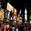 NYC: Times Square at Night — Stock Photo