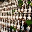Pengzhou, China: Dgoba Burial Urns at Ci Ji Temple — Stock Photo