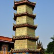 Pengzhou, China:  Five story Pagoda at the Ci Ji Temple — Stock Photo