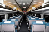 NYC: Interior of an AMTRAK Regional Passenger Train Coach — 图库照片