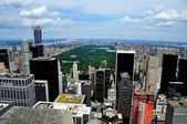 NYC: View of Central Park from 30 Rockefeller Center's Top of the Rock — Stock Photo