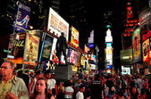 NYC: Times Square at Night — Стоковое фото