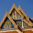 Stock Photo: Bangkok, Thailand: Wat Tramit Tympanum
