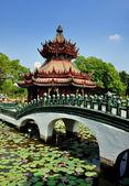 Samut Prakan, Thailand: Phra Kaew Pavilion at Ancient Siam Heritage Park — Stock Photo