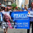 Stock Photo: NYC: ACLU Marchers at Gay Pride Parade