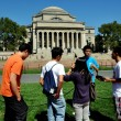 NYC:  Asian Students at Columbia University — Stock Photo
