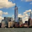 NYC: Lower Manhattan Skyline and One World Trade Center Tower — Stock Photo