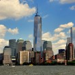 NYC: Lower Manhattan Skyline and One World Trade Center Tower — Stock Photo