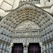 Stock Photo: NYC: Neo-gothic Entrance Doors at Riverside Church