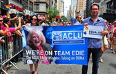 NYC: ACLU Marchers at Gay Pride Parade — Stock Photo