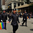 Stock Photo: NYC: Members of NYPD Marching in 2013 Gay Pride Parade