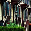 NYC:  Sylvan Terrace Wooden Row Houses — Stock Photo