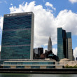 NYC: The United Nations and Chrysler Buildings — Stock Photo