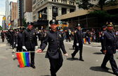 NYC: Members of the NYPD Marching in the 2013 Gay Pride Parade — Stock Photo