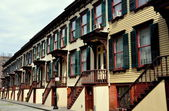 NYC: Sylvan Terrce Wooden Row Houses — Stock Photo