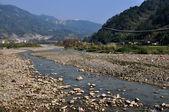 Sichuan Province, China: Rock Strewn Jian Jiang River — Stock Photo