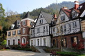 Bai Lu, China: French Style Half-Timbered Normandie Manor Houses — Stock Photo