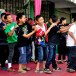 Stock Photo: Chiang Mai,Thailand: Thai Schoolboys Dancing at School Assembly