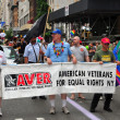 NYC: American Veterans Marching in Gay Pride Parade — Stock Photo