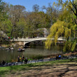 NYC:  Bow Bridge in Central Park — Stock Photo