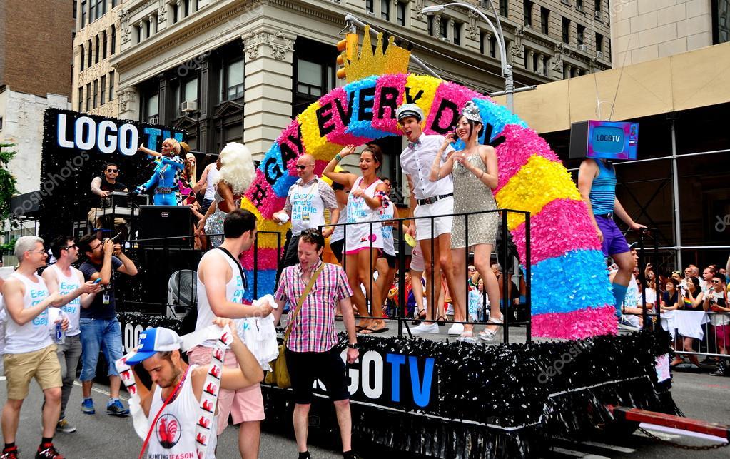 Gay pride parade televised