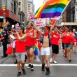 NYC:  Marchers at Gay Pride Parade — Stock Photo