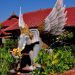 Chiang Mai, Thailand: Winged Elephant at Wat Chomphu — Stock Photo
