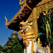 Chiang Mai, Thailand: Mythical Beast Statue at Wat Chetawan — Stock Photo