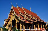 Chiang Mai, Thailand: Ubosot Sanctuary Hallat Wat Chetawan — Stock Photo