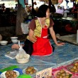 Stock Photo: Lamphun, Thailand: WomSelling Food at MeThMarket